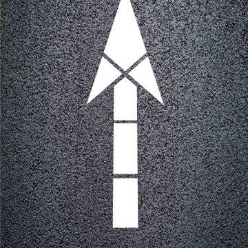 Fed. D.O.T. Arrow Stencils